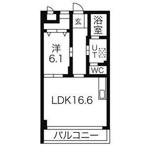 1LDK Mansion in Sorocho - Nagoya-shi Mizuho-ku Floorplan