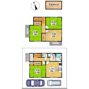 4LDK {building type} in Umegahata yamasakicho - Kyoto-shi Ukyo-ku Floorplan