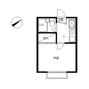 1K Apartment in Kitamikata - Kawasaki-shi Takatsu-ku Floorplan