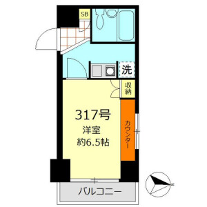 1K Mansion in Maebara higashi - Funabashi-shi Floorplan