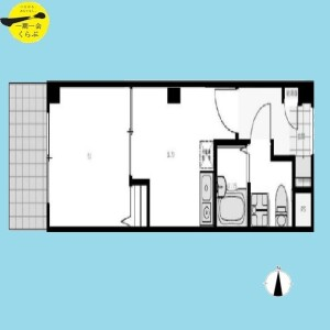1DK {building type} in Koenjiminami - Suginami-ku Floorplan