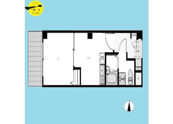 1DK Apartment to Buy in Suginami-ku Floorplan