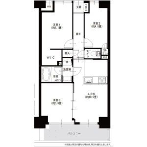 3LDK {building type} in Nakamurakita - Nerima-ku Floorplan