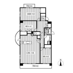 3LDK Mansion in Takikawacho - Nagoya-shi Showa-ku Floorplan