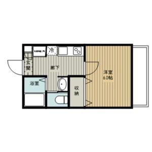 1K Apartment in 西大宮 - Saitama-shi Nishi-ku Floorplan