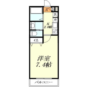 1K Apartment in Kasukabehigashi - Kasukabe-shi Floorplan