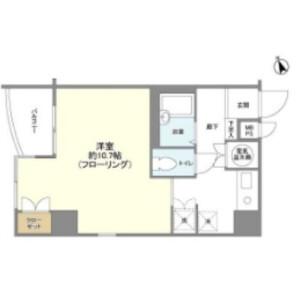 1R Mansion in Shibakoen - Minato-ku Floorplan