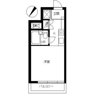 1K Mansion in Urashimacho - Yokohama-shi Kanagawa-ku Floorplan