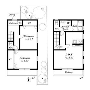 2LDK House in Denenchofu - Ota-ku Floorplan