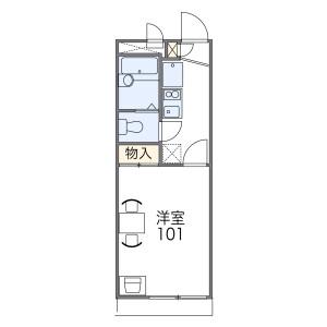1K Apartment in Hishiyahigashi - Higashiosaka-shi Floorplan