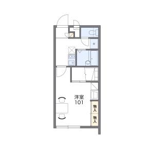 1K Mansion in Matsumoto - Okinawa-shi Floorplan