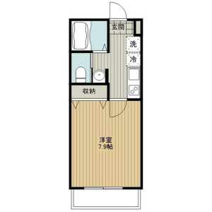 1K Apartment in Kamiochiai - Saitama-shi Chuo-ku Floorplan