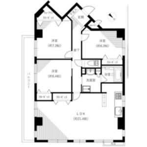 3LDK {building type} in Kominatocho - Yokohama-shi Naka-ku Floorplan