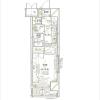 在千代田区内租赁1K 公寓大厦 的 楼层布局