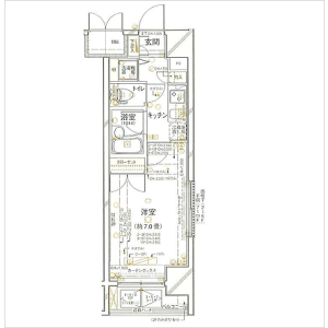 1K Mansion in Kandajimbocho - Chiyoda-ku Floorplan