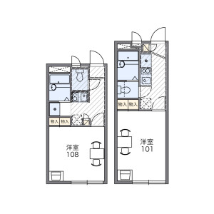 1K Apartment in Niizominami - Toda-shi Floorplan