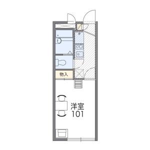 1K Mansion in Kaijin - Funabashi-shi Floorplan