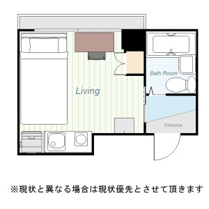 墨田区 横川 1K マンション 間取り