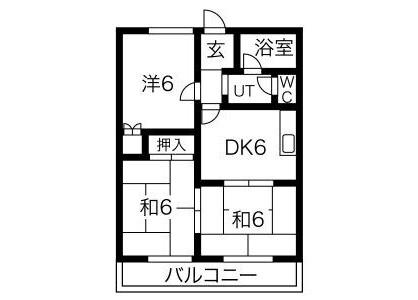 在岐阜市內租賃3DK 公寓大廈 的房產 房間格局