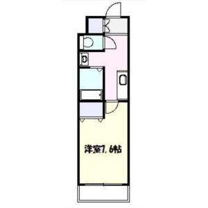1K Mansion in Sangenjaya - Setagaya-ku Floorplan