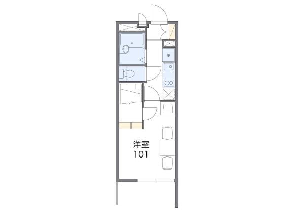 1K Apartment to Rent in Hamamatsu-shi Naka-ku Floorplan