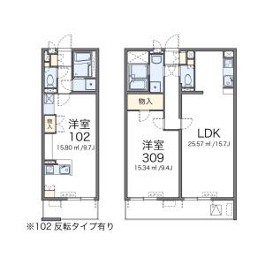 1R Mansion in Takenotsuka - Adachi-ku Floorplan