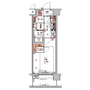 1K Mansion in Sakashita - Itabashi-ku Floorplan