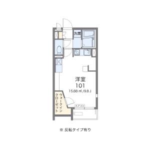 1R Apartment in Toyoshiki - Kashiwa-shi Floorplan