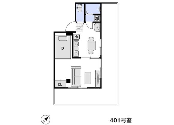 1DK Apartment to Rent in Katsushika-ku Floorplan