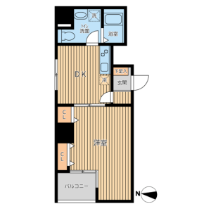 台東区 - 日本堤 公寓 1DK 房間格局