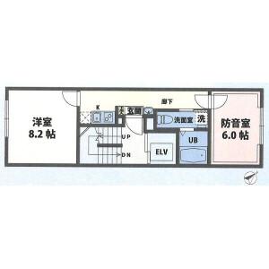 2K Mansion in Shinkawa - Chuo-ku Floorplan