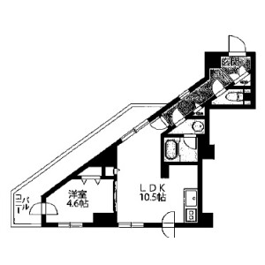 1LDK Mansion in Daikyocho - Shinjuku-ku Floorplan