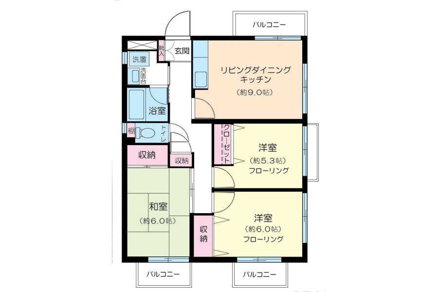3LDK Apartment to Rent in Nerima-ku Interior