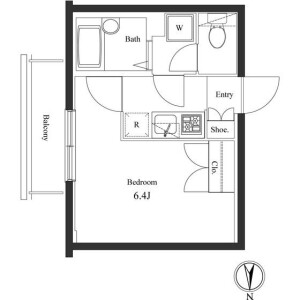 1K Mansion in Sasazuka - Shibuya-ku Floorplan