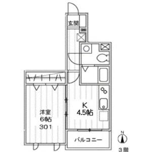 1K Apartment in Minamikamata - Ota-ku Floorplan