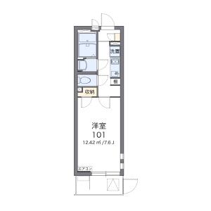 1K Mansion in Akashicho - Hiratsuka-shi Floorplan