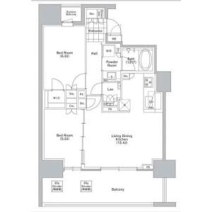 目黒區青葉台-2LDK公寓大廈 房間格局
