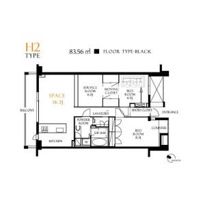 2SLDK Apartment in Kitashinjuku - Shinjuku-ku Floorplan