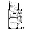 2LDK Apartment to Rent in Shibuya-ku Floorplan