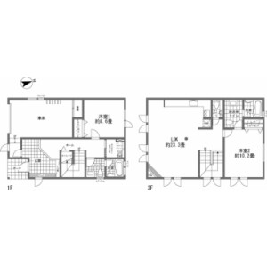 2LDK {building type} in Kabayama - Abuta-gun Kutchan-cho Floorplan