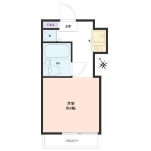 1R Apartment in Yotsugi - Katsushika-ku Floorplan