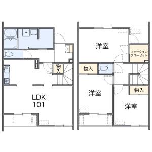 3LDK Apartment in Minamitanaka - Nerima-ku Floorplan