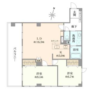 澀谷區円山町-2LDK{building type} 房間格局