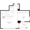 1LDK Apartment to Rent in Sumida-ku Floorplan