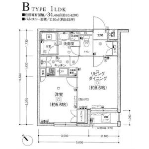 1LDK Mansion in Minami - Meguro-ku Floorplan