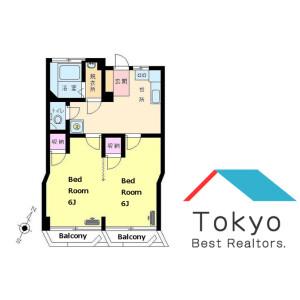 澀谷區神泉町-2DK公寓大廈 房間格局