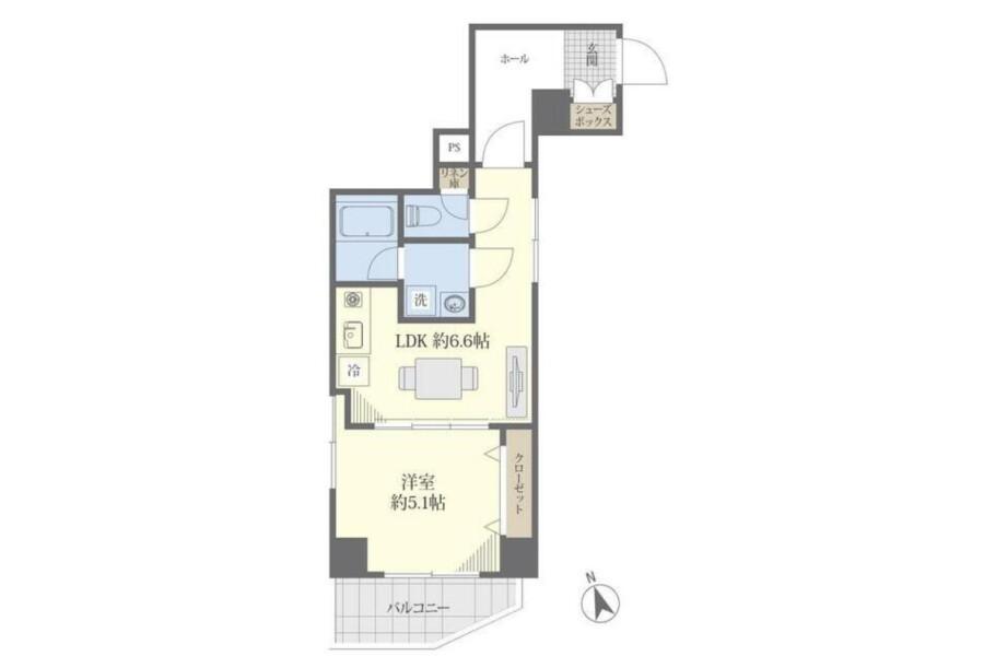 1DK Apartment to Buy in Chuo-ku Floorplan