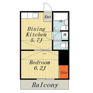 1DK Apartment in Hikarigaoka - Kashiwa-shi Floorplan