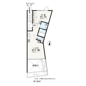 1LDK Apartment in Osaki - Shinagawa-ku Floorplan