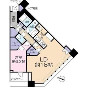 1LDK Mansion in Osaki - Shinagawa-ku Floorplan